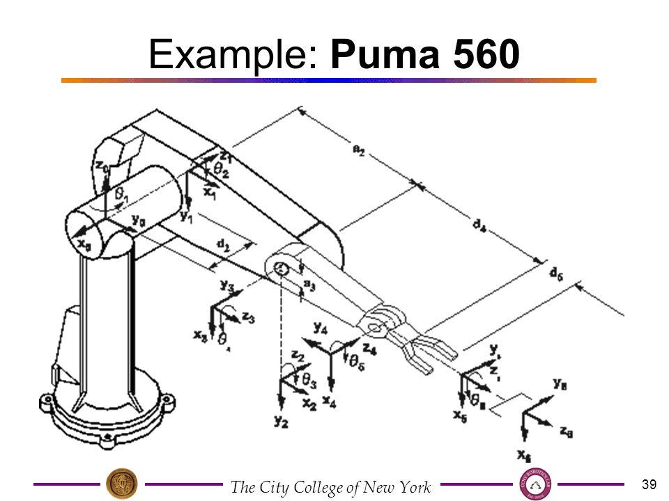 puma 560 dh table