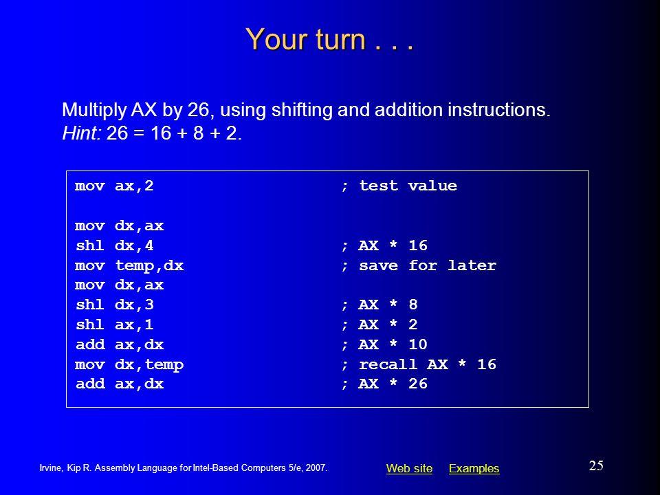 Assembly language programming tutorial 45 shl instruction.