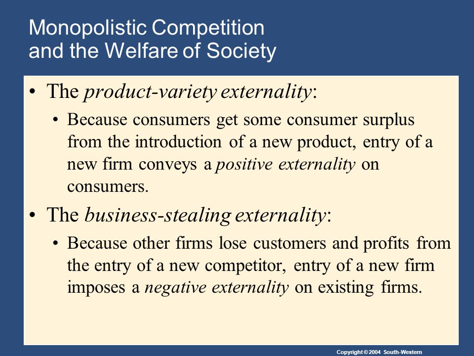 Monopolistic Competition and the Welfare of Society