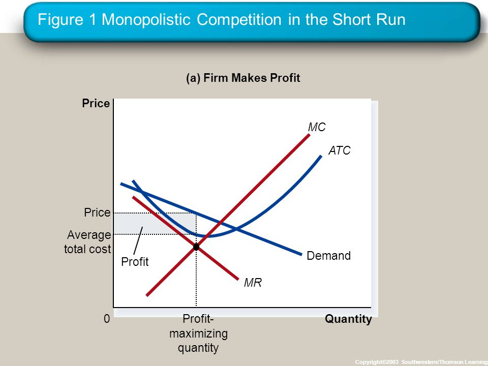 Figure 1 Monopolistic Competition in the Short Run
