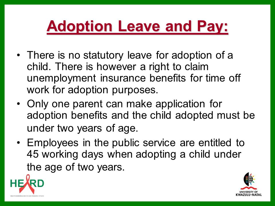 Adoption Leave and Pay: