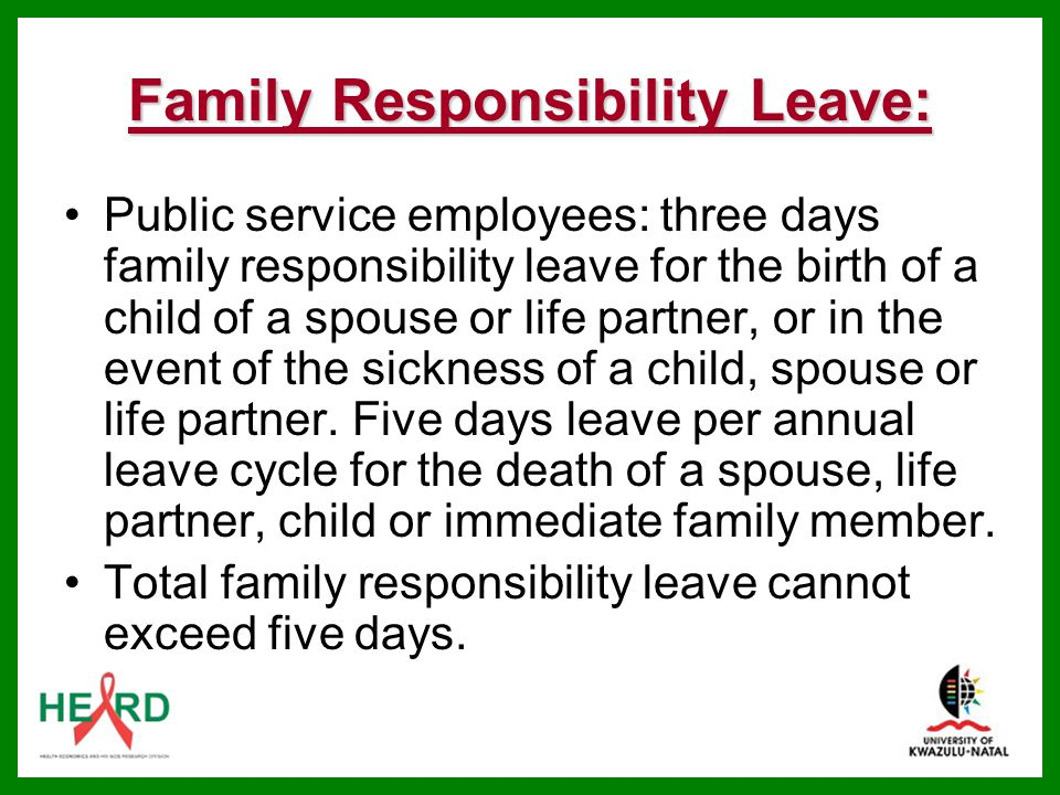 Family Responsibility Leave: