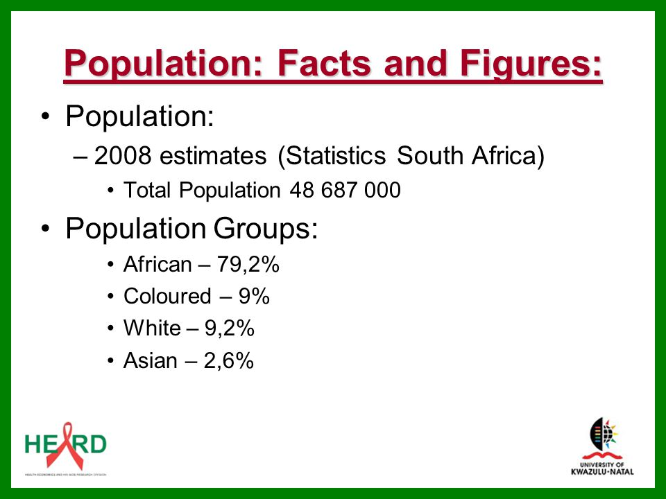 Population: Facts and Figures: