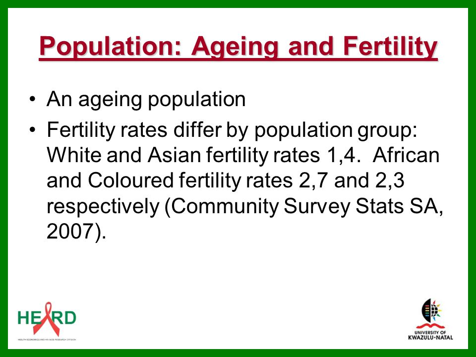 Population: Ageing and Fertility