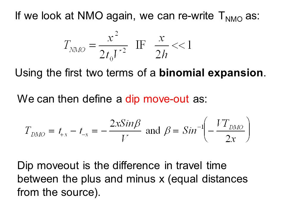 If we look at NMO again, we can re-write TNMO as: