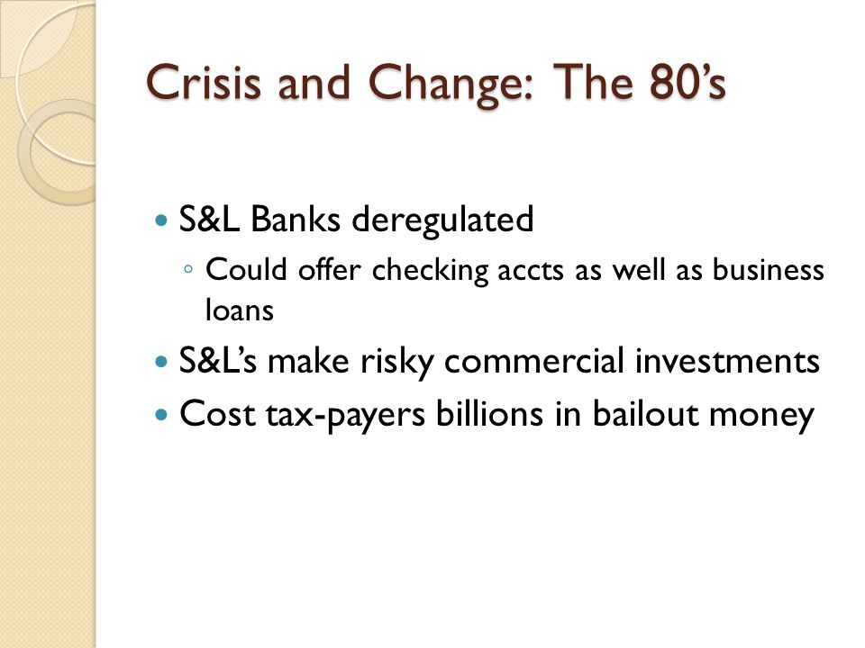 Crisis and Change: The 80's
