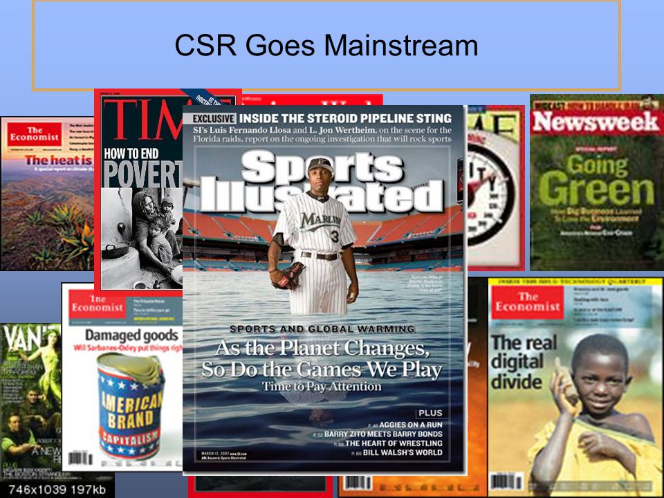 CSR Goes Mainstream 13