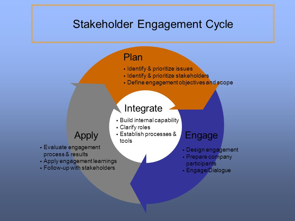 Stakeholder Engagement Cycle