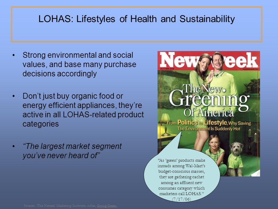 LOHAS: Lifestyles of Health and Sustainability
