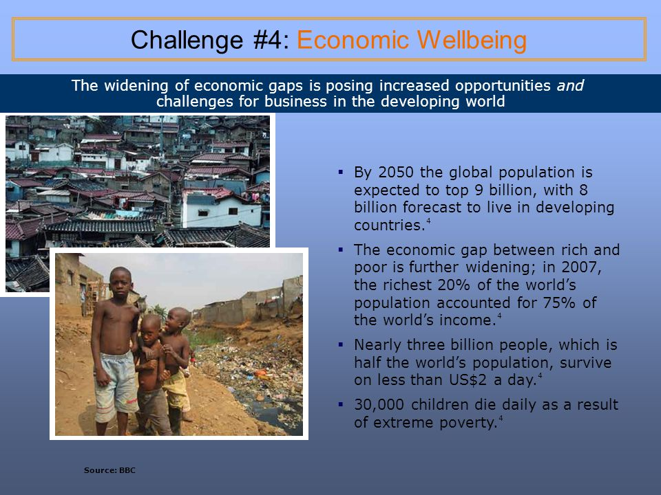 Challenge #4: Economic Wellbeing
