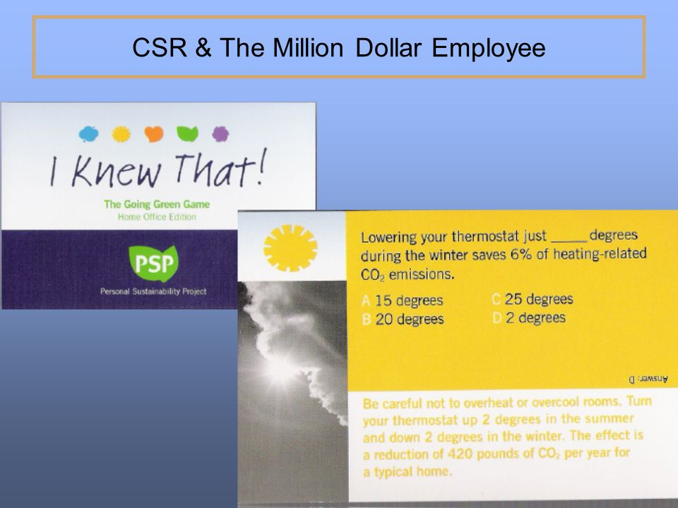 CSR & The Million Dollar Employee