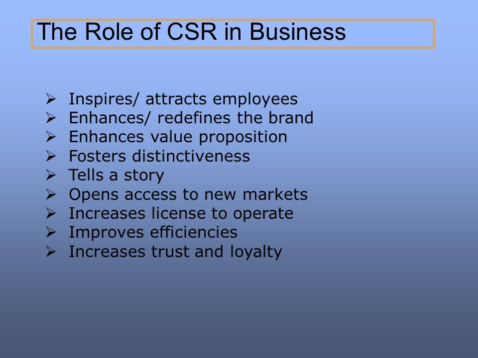 The Role of CSR in Business