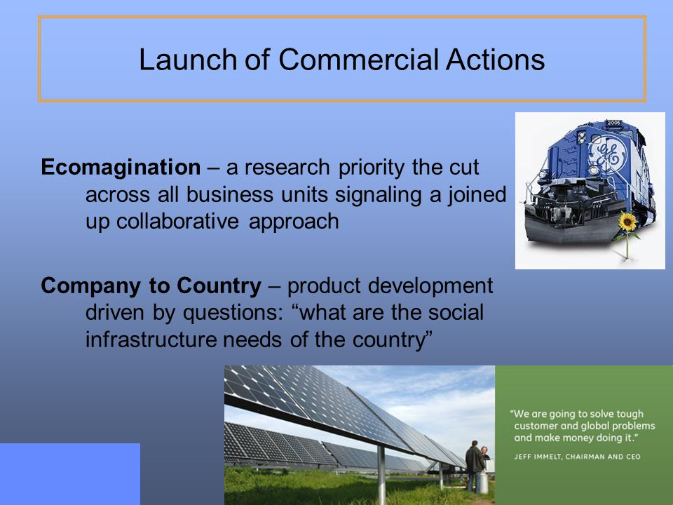 Launch of Commercial Actions