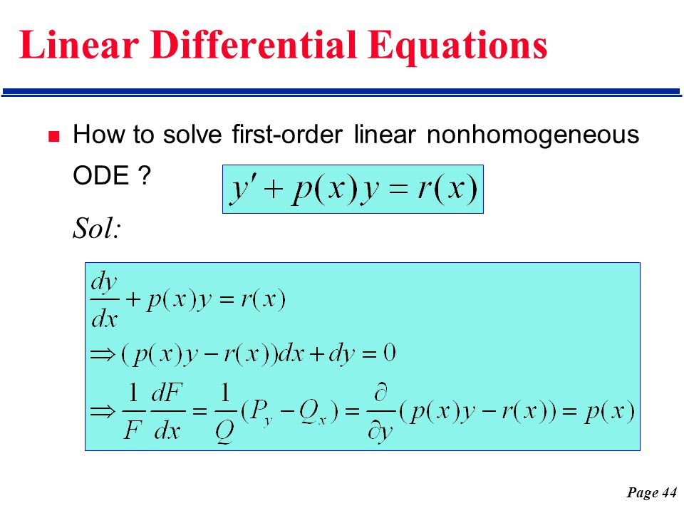 Chap 1 First-Order Differential Equations - ppt video online