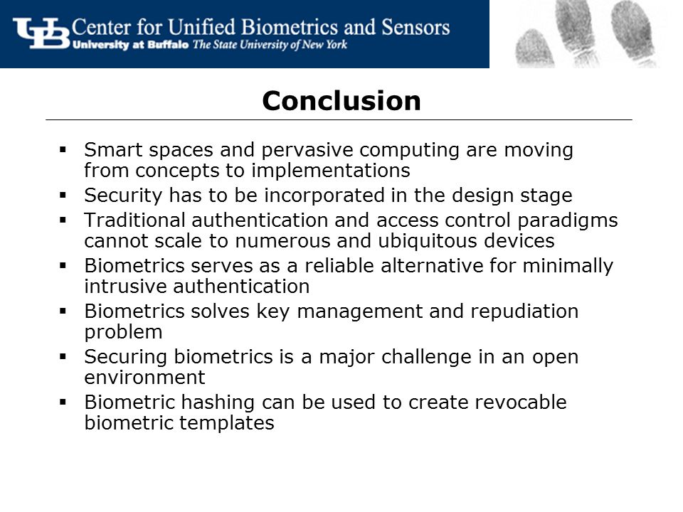 Securing Pervasive Networks Using Biometrics - ppt video online download