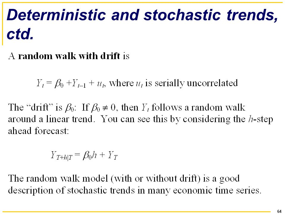 deterministic and stochastic relationship test