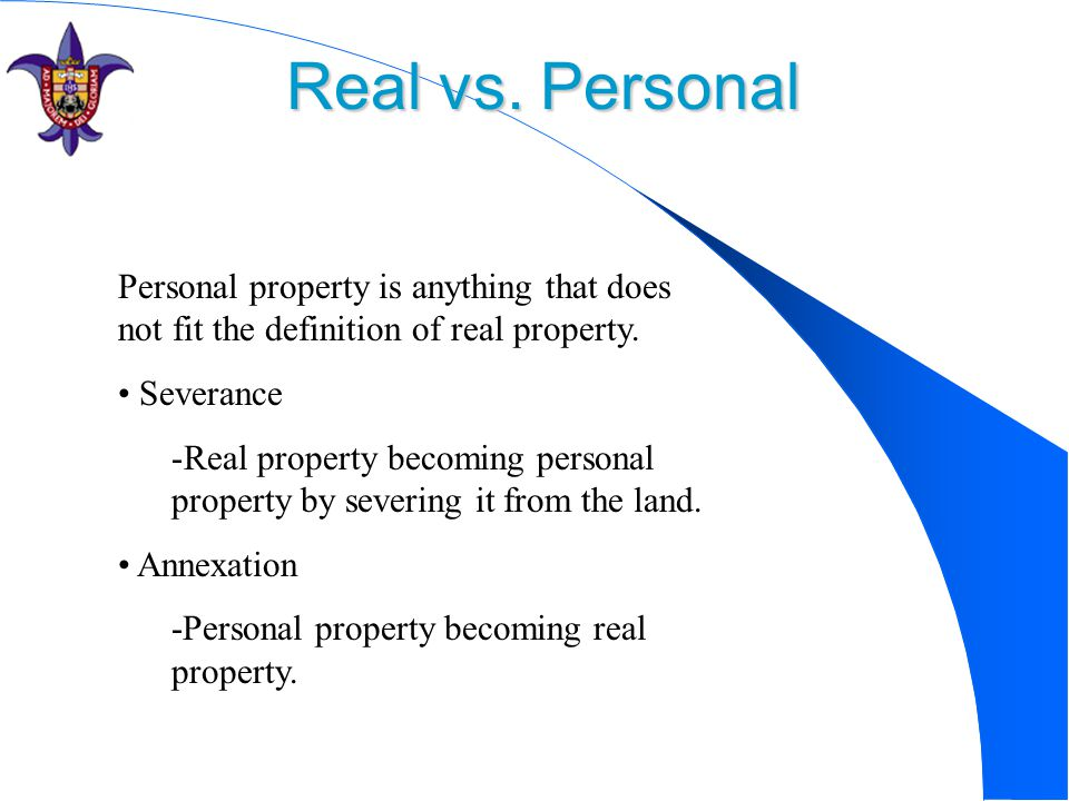 When Does Personal Property Become A Fixture