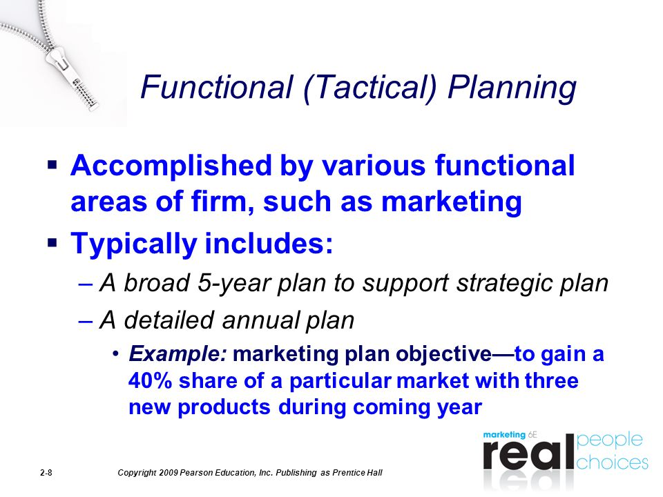 functional tactics for a strategic plan