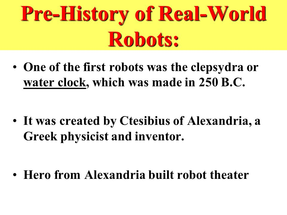 Short History of Robotics - ppt download