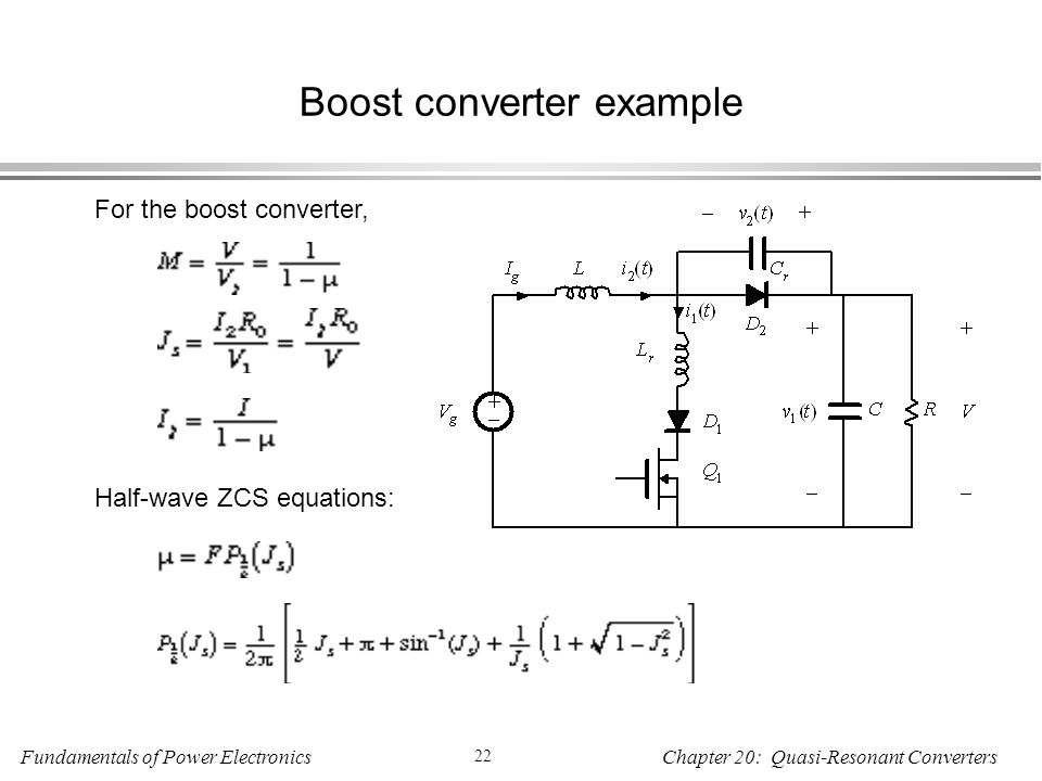 Boost converter example