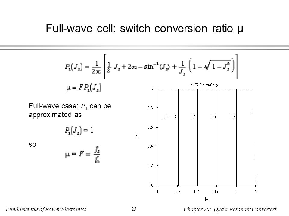 Full-wave cell: switch conversion ratio µ
