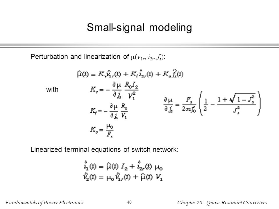 Small-signal modeling