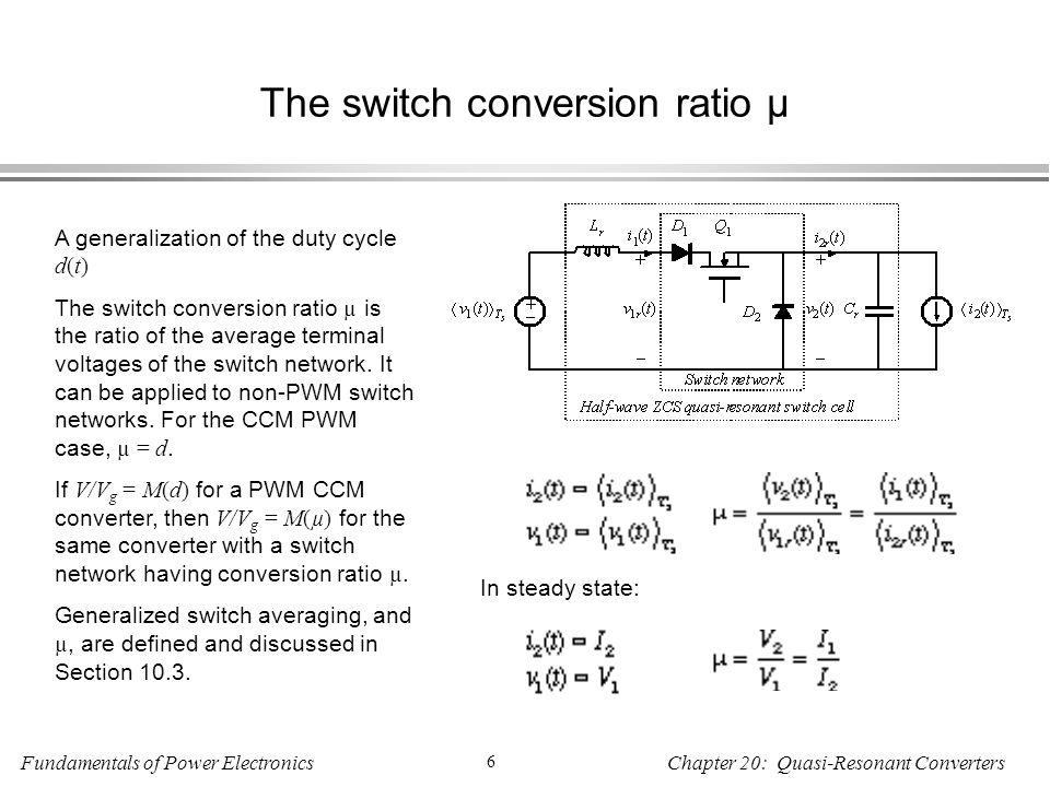 The switch conversion ratio µ