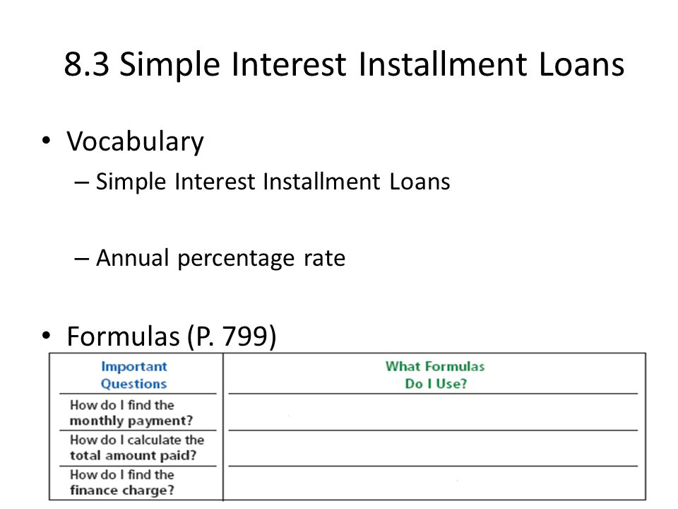 8 1 single payment loan single payment loan promissory note ppt