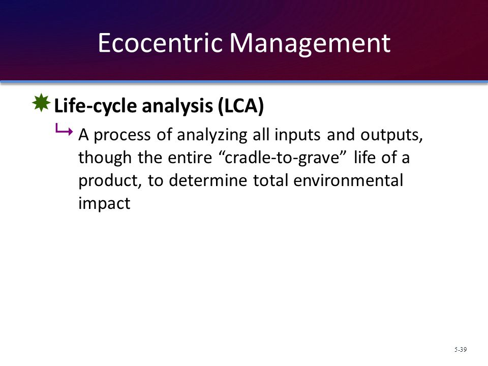 Ecocentric Management