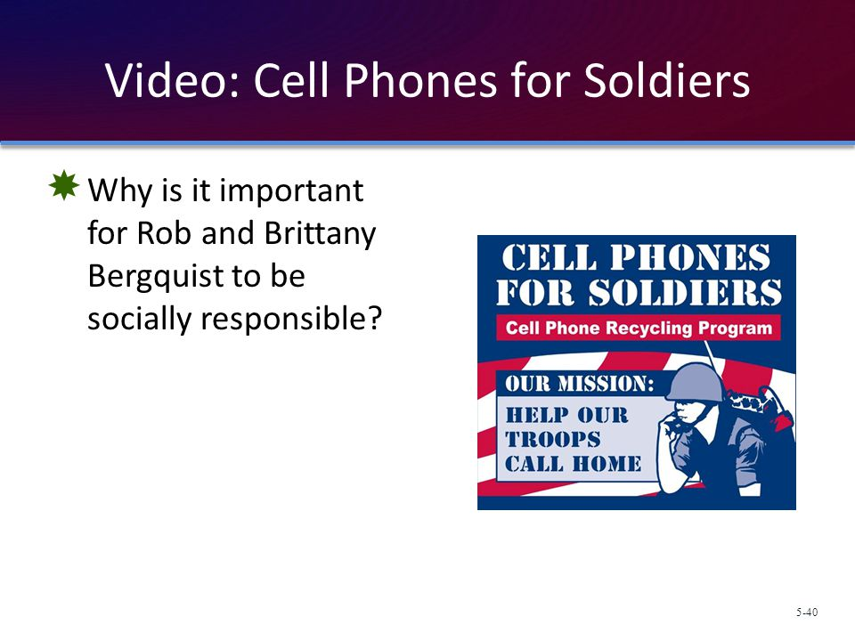 Video: Cell Phones for Soldiers