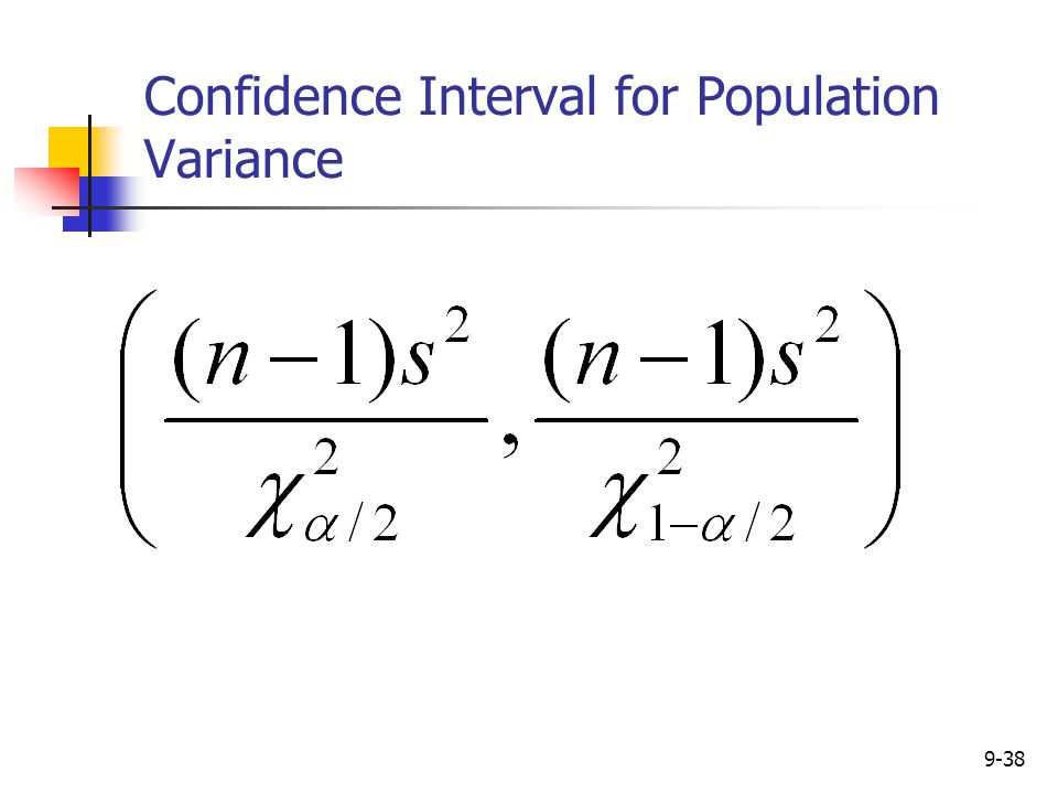 Confidence Interval for Population Variance