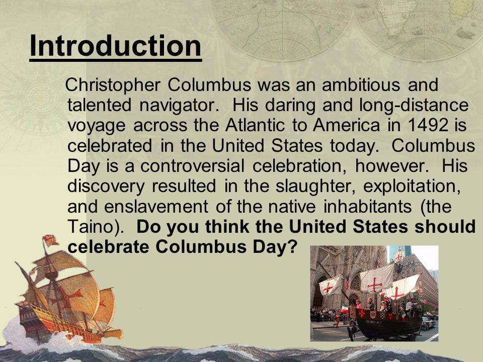 should columbus day be celebrated as a national holiday essay