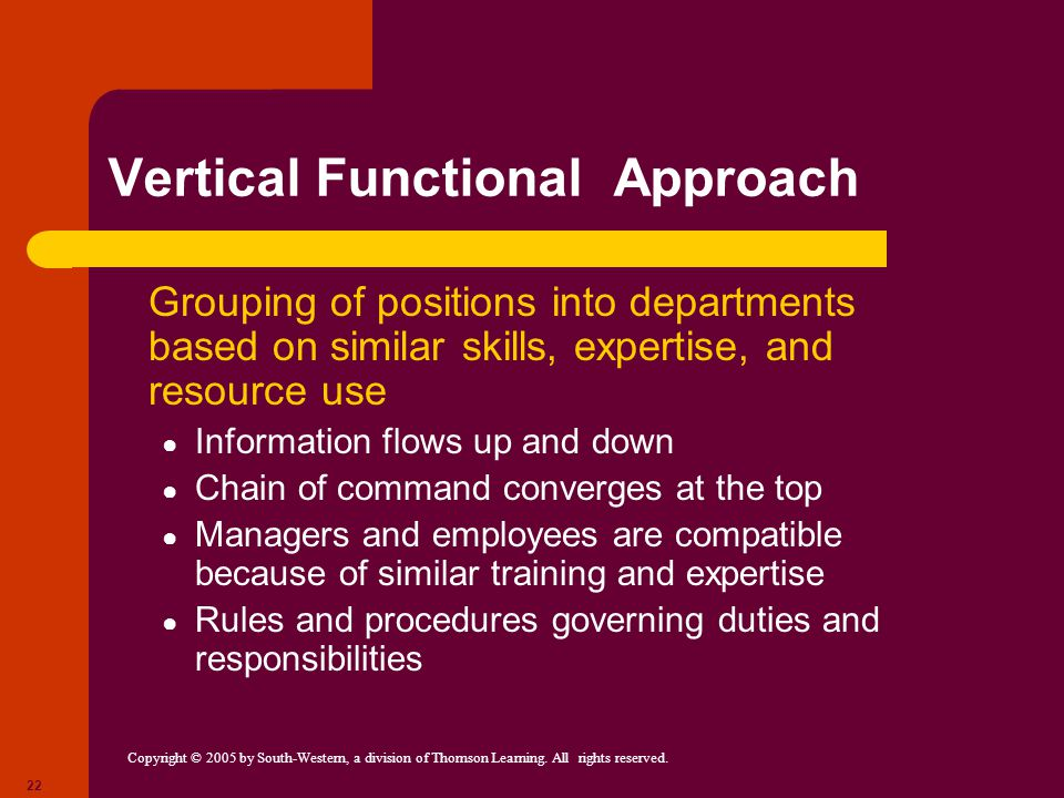 Vertical Functional Approach