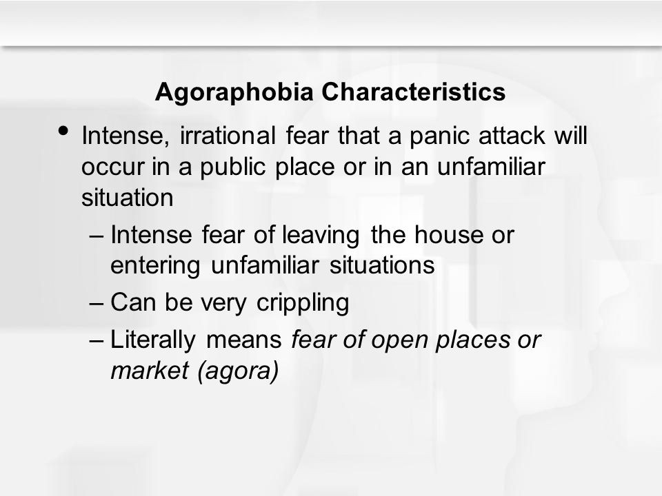 fear of leaving the house psychological disorders ppt 11650