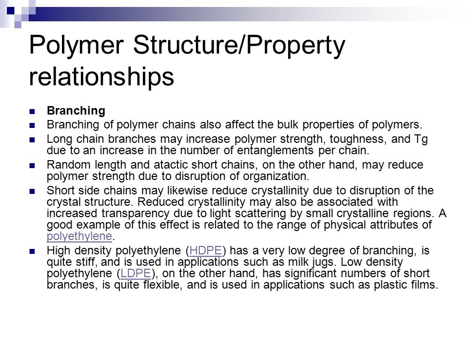 structure property relationship in polyurethanes applications