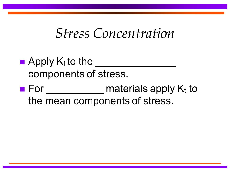 Stress Concentration Apply Kf to the ______________ components of stress.