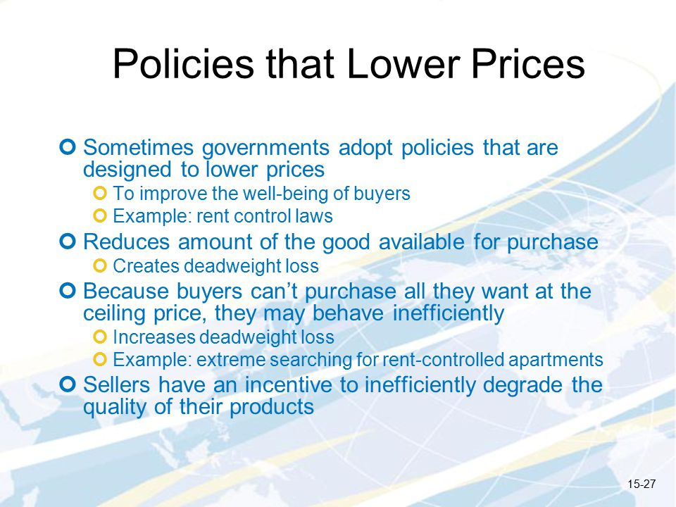 Policies that Lower Prices