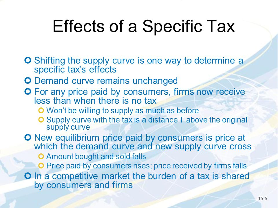 Effects of a Specific Tax