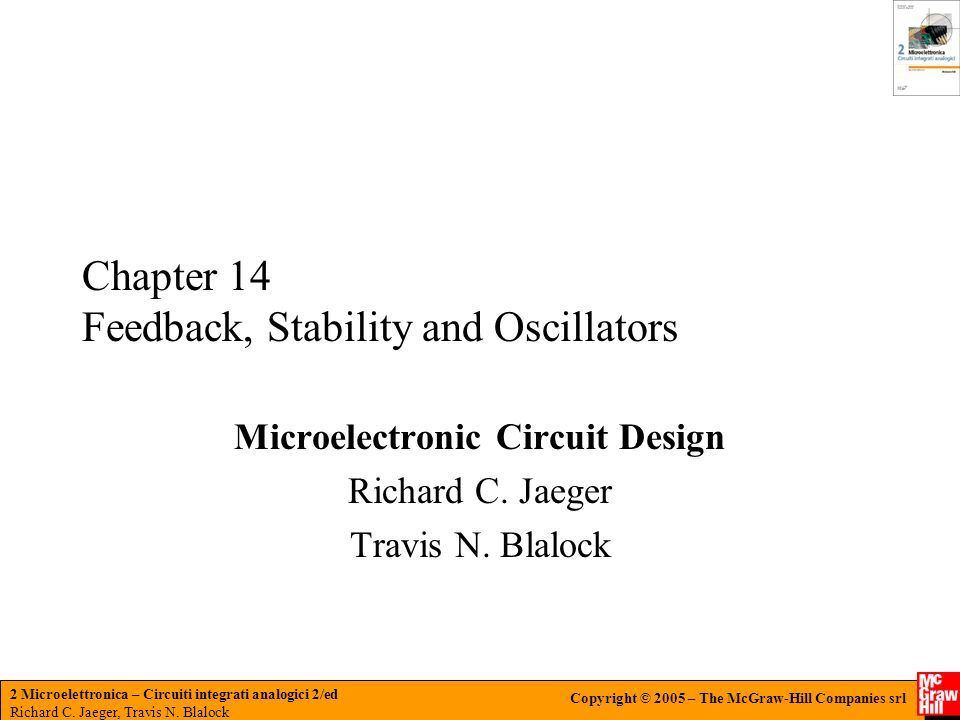 Chapter 14 Feedback, Stability and Oscillators