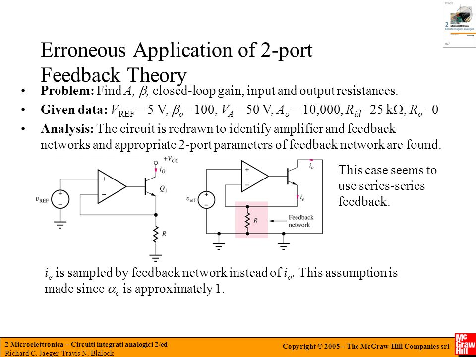 Erroneous Application of 2-port Feedback Theory