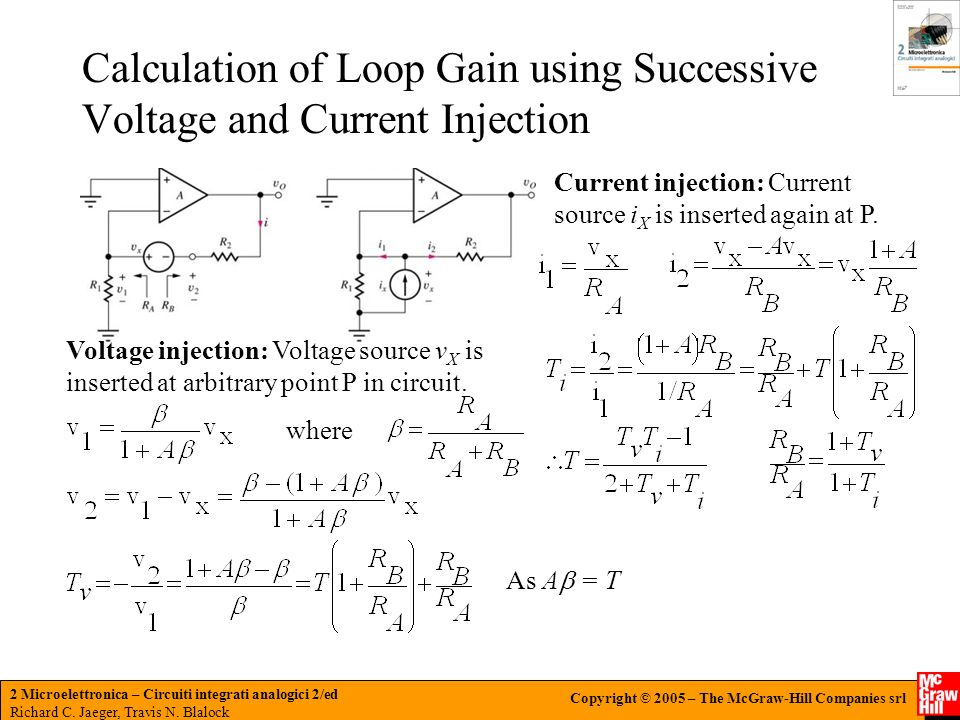 Calculation of Loop Gain using Successive Voltage and Current Injection