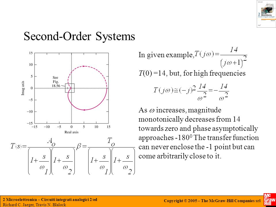 Second-Order Systems In given example,