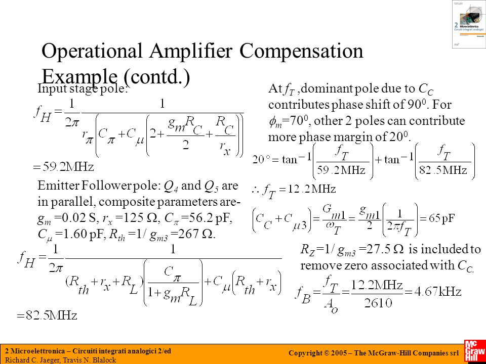 Operational Amplifier Compensation Example (contd.)