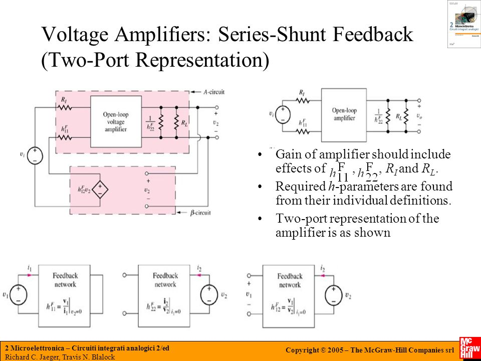 Voltage Amplifiers: Series-Shunt Feedback (Two-Port Representation)