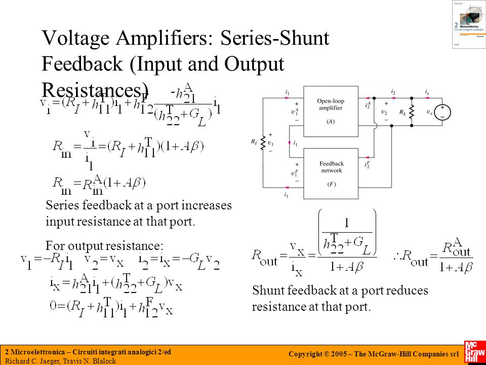 Voltage Amplifiers: Series-Shunt Feedback (Input and Output Resistances)