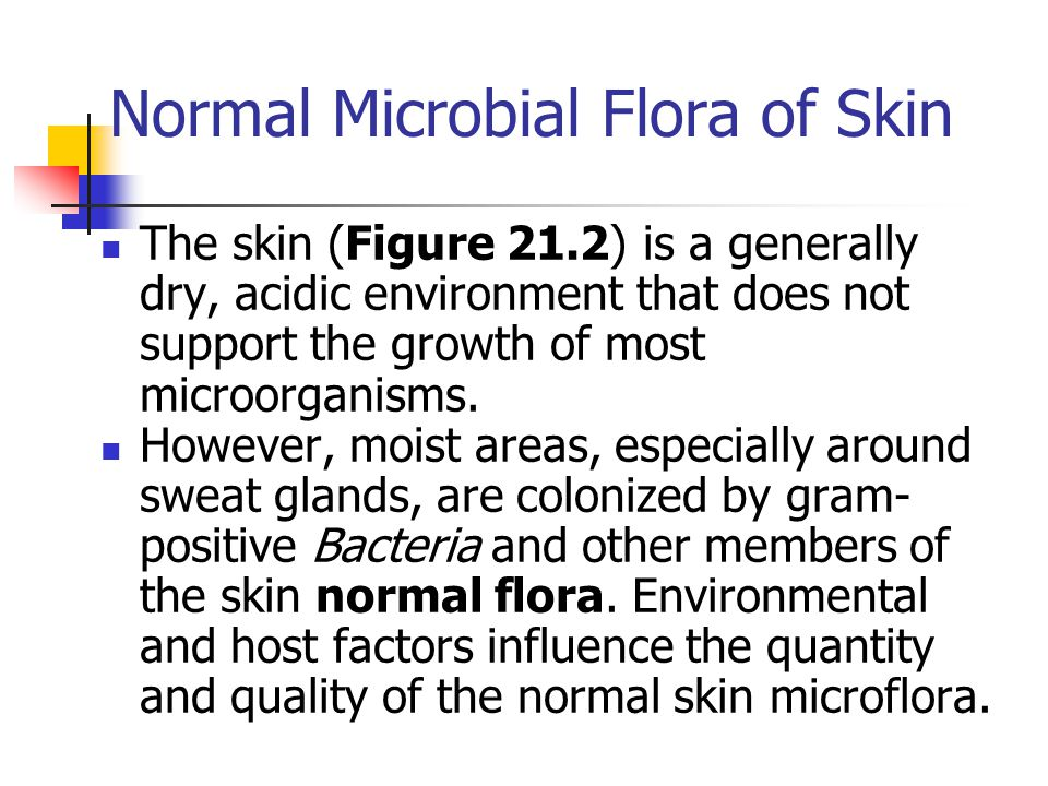 Normal Microbial Flora of Skin