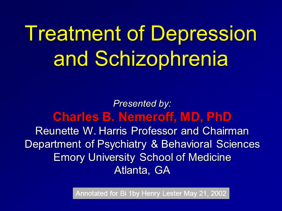 treatment of depression Major depressive disorder has significant potential morbidity and mortality, contributing to suicide (see the image below), incidence and adverse outcomes of medical.