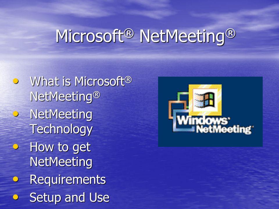 Netmeeting Windows Xp