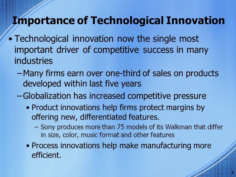 Ppt strategic management of technological innovation – melissa.