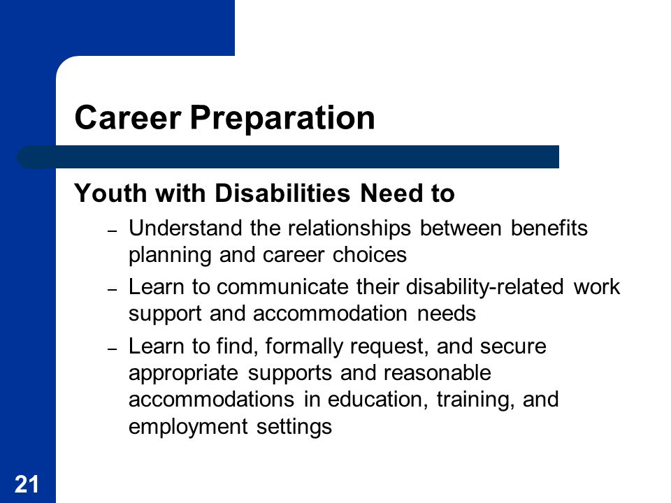 Career Preparation Youth with Disabilities Need to